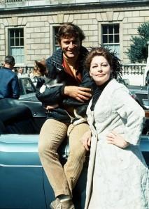Ava Gardner and Roddy McDowall in London