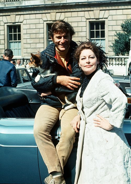 Ava Gardner and Roddy McDowall in London