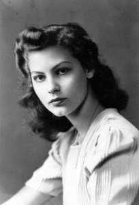 Ava Gardner as a teenager