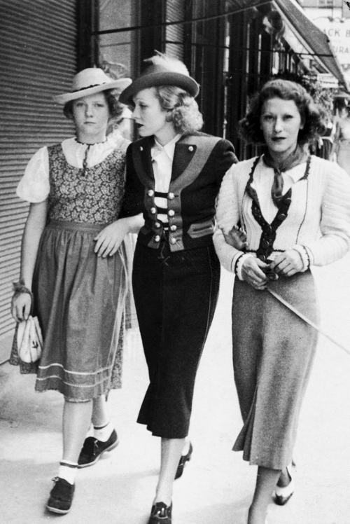 Marlene Dietrich daughter Maria left and her husbands girlfriend Tamara right