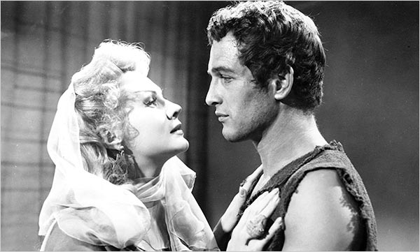 Paul Newman in his first film The Silver Chalice