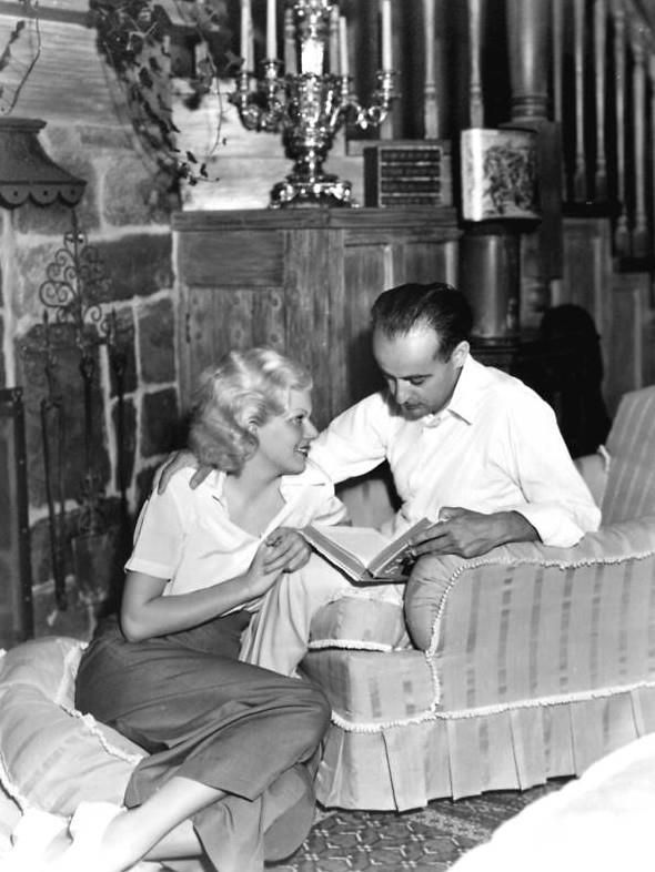 Jean harlow and husband Paul Bern