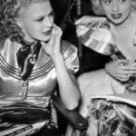 Lucille Ball and Ginger Rogers on set