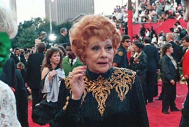 Lucy Ball at one of her last public appearances