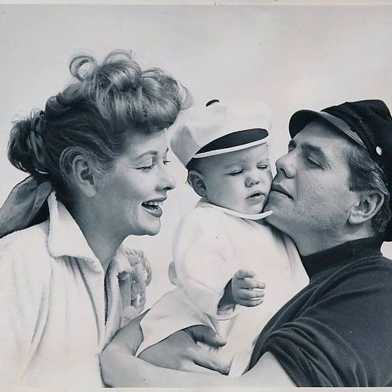 Lucy Desi and their daughter