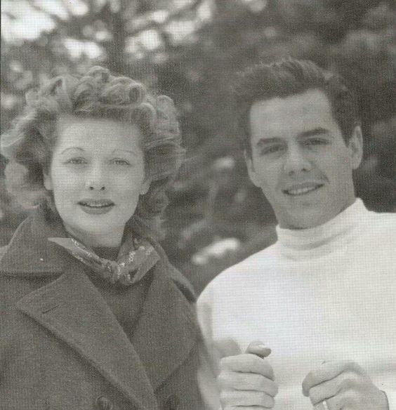 Lucy and Desi on their Honeymoon in 1940