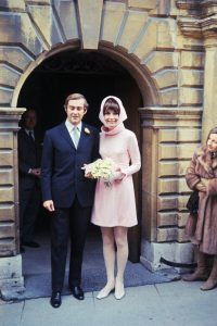 Audrey and Andrea on their wedding day