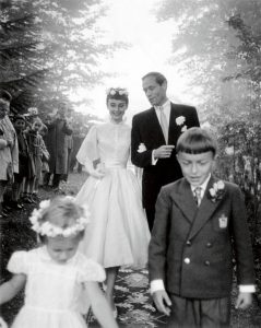 Audrey and Mel on their wedding day