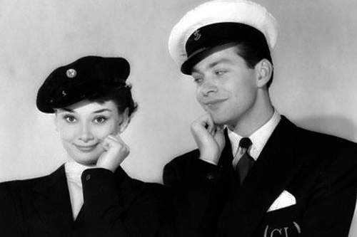 audrey with co star and boyfriend marcel