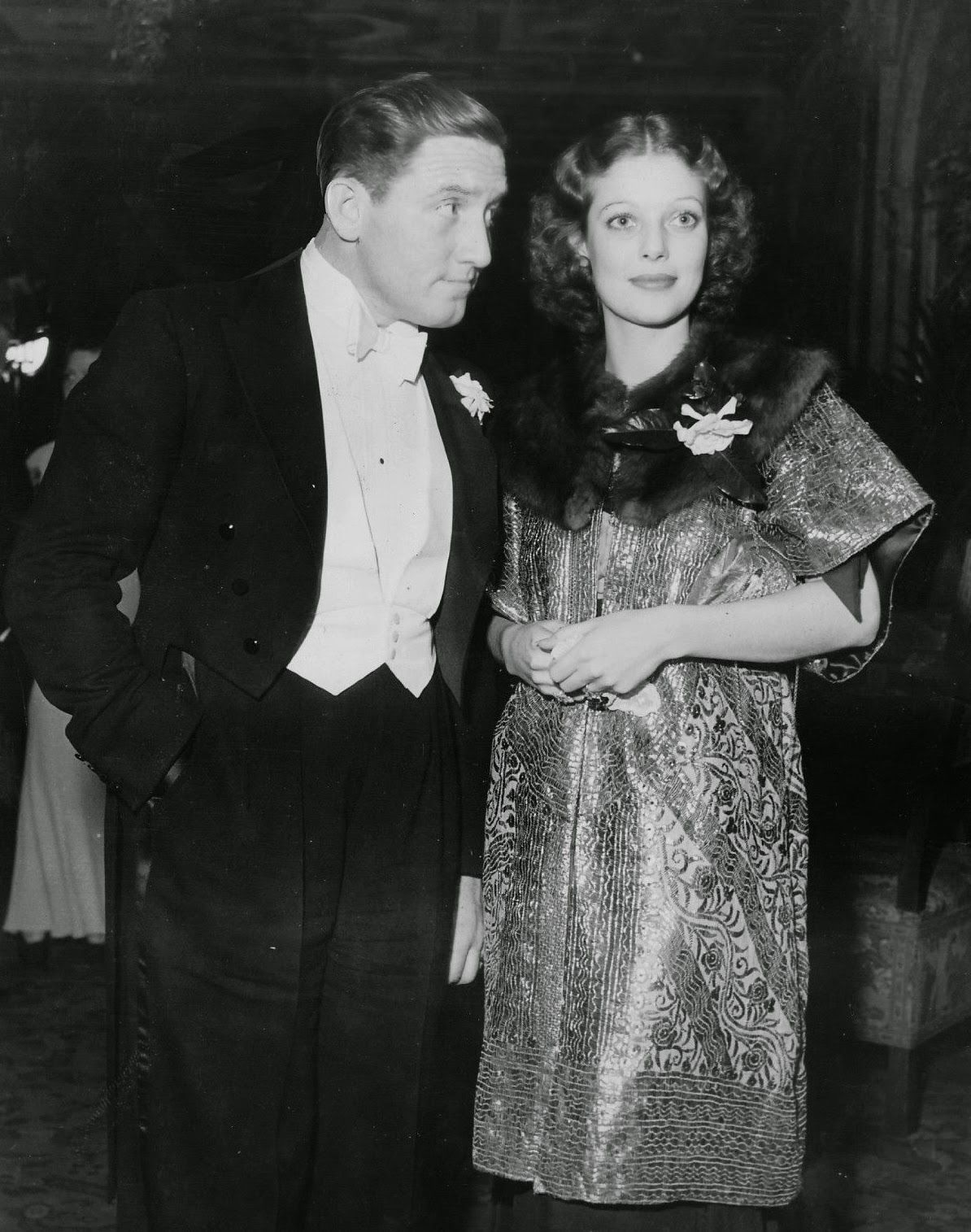 Spencer Tracy and girlfriend Loretta Young