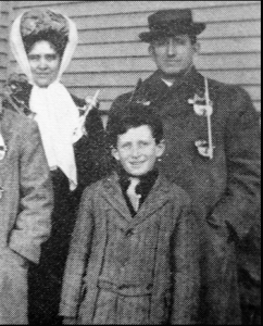 Spencer Tracy as a child with his parents