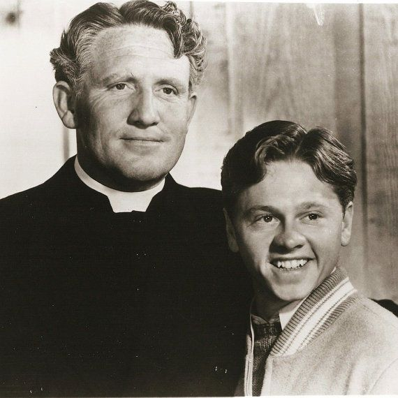 Spencer Tracy in Boys Town with Mickey Rooney