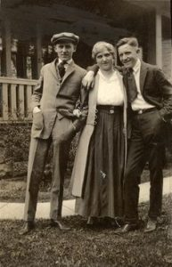 Spencer Tracy with his mother and brother