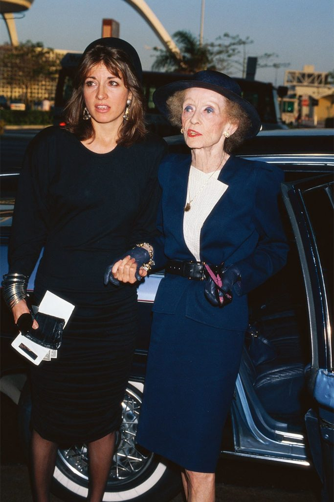 Bette Davis and assistent friend Kathryn Sermak