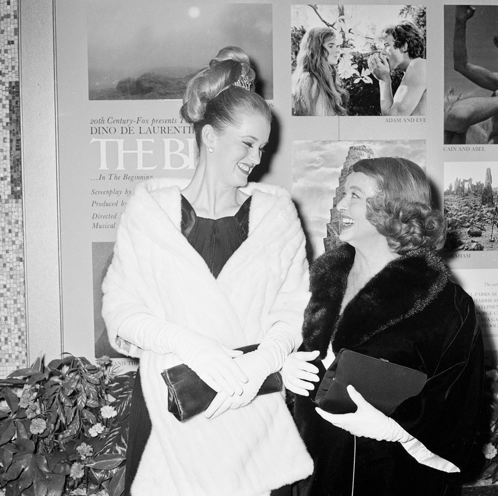 Bette Davis and her daughter B.D.