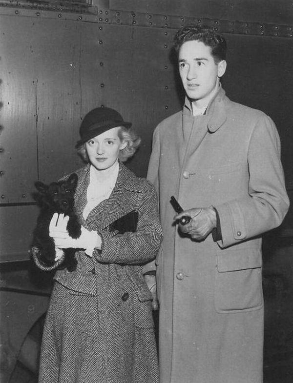 Bette Davis and her first husband Ham