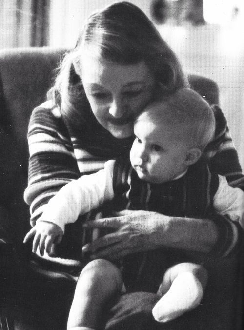 Bette Davis and her grandson