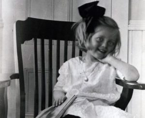 Bette Davis as a child