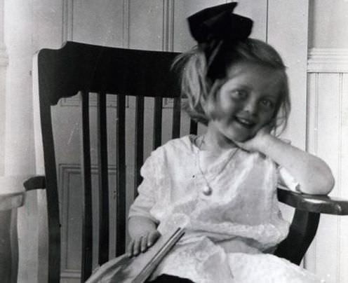 Bette Davis as a child