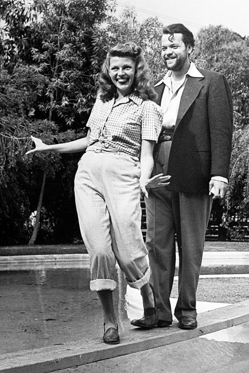 Rita Hayworth and Orson Welles