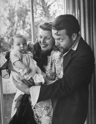 Rita Hayworth, Orson Welles and daughter Rebecca