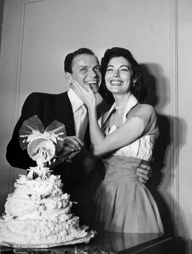 Ava gardner and Frank Sinatras wedding