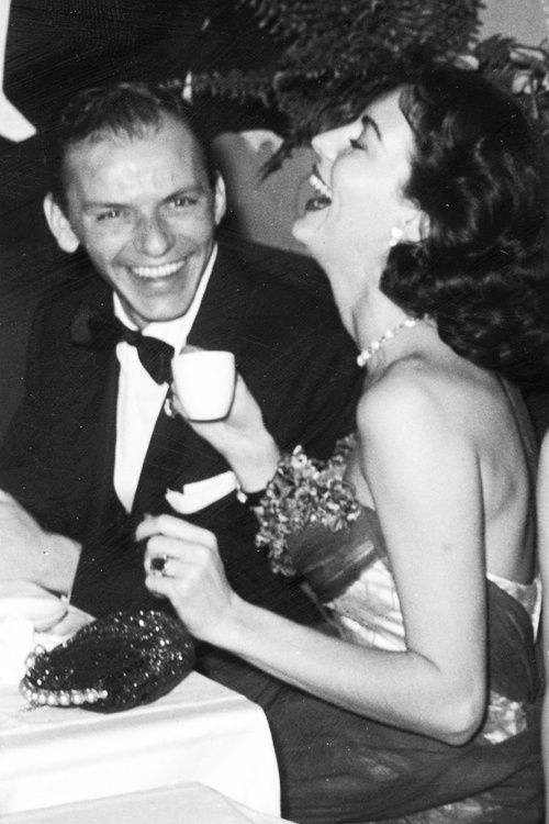Frank sinatra and ava gardner having fun