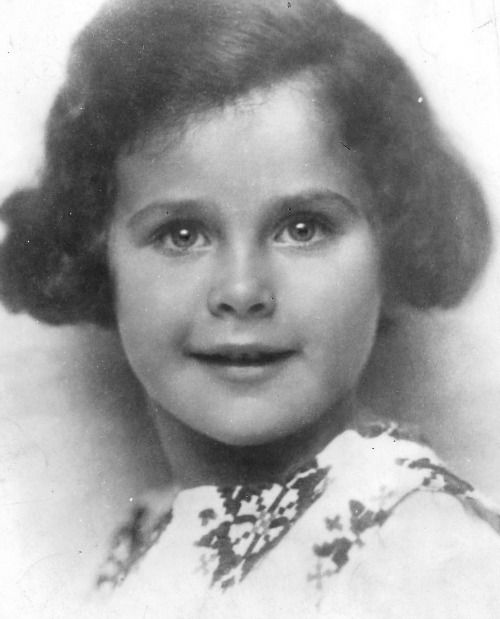Hedy Lamarr as a child