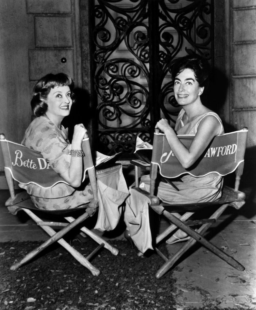Joan and Bette on set of baby jane
