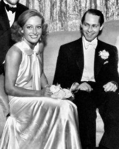 Joan and husband Franchot Tone