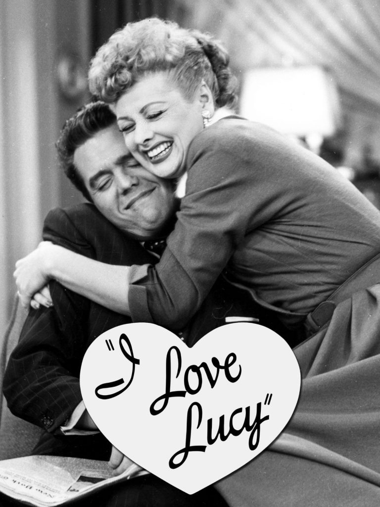 Lucille and Desi in I Love Lucy