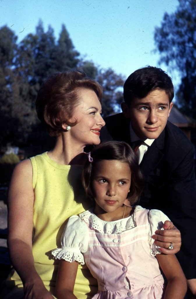 Olivia de Havilland and her children