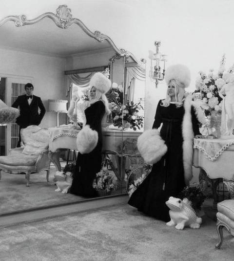 Mae West in her beloved Ravenswood appartment