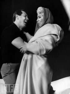 Mae West rehearsing with Rock Hudson for the Oscars