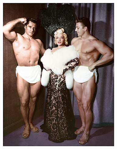 Mae West with her Muscle Men act in Las vegas