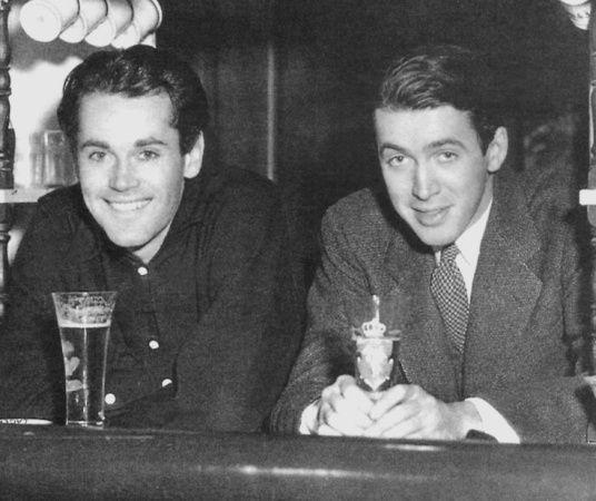 Henry Fonda and James Stewart having fun